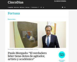 Paulo Morgado is interviewed in Cinco Días