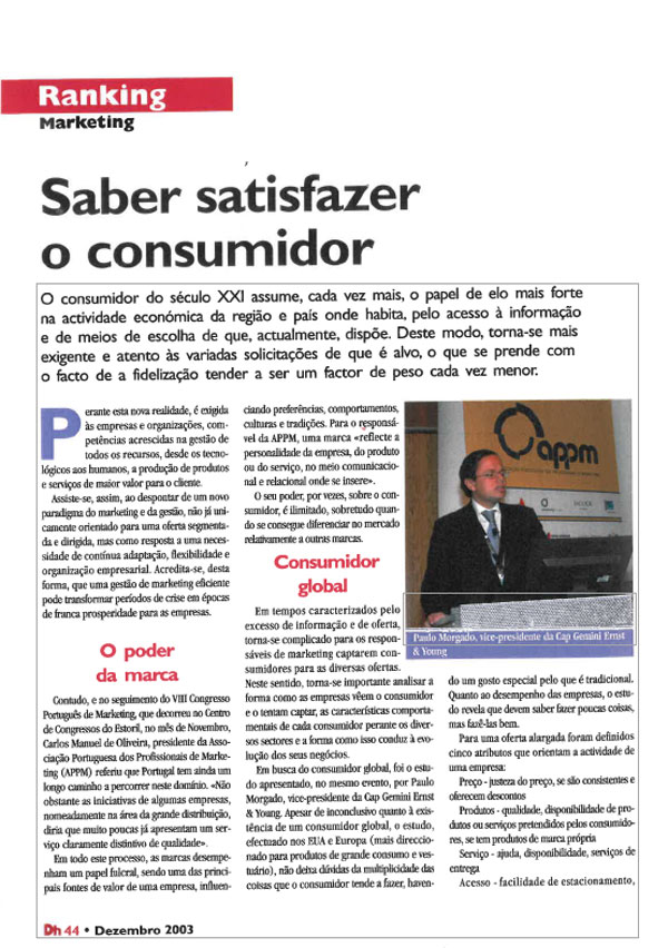 Paulo Morgado on consumers