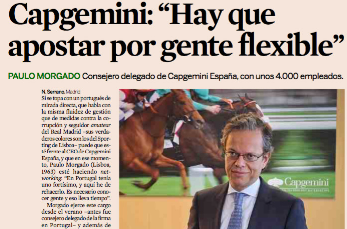 Paulo Morgado on his appointment as CEO at Capgemini Spain
