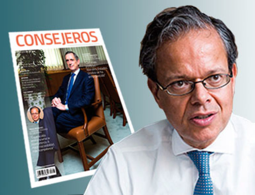 Interviewed by Fernando González Urbaneja for magazine Consejeros