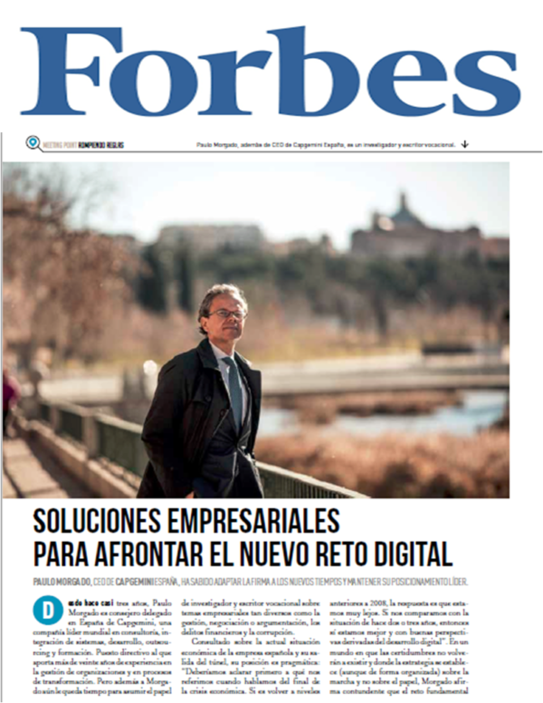 Paulo Morgado is interviewed in Forbes