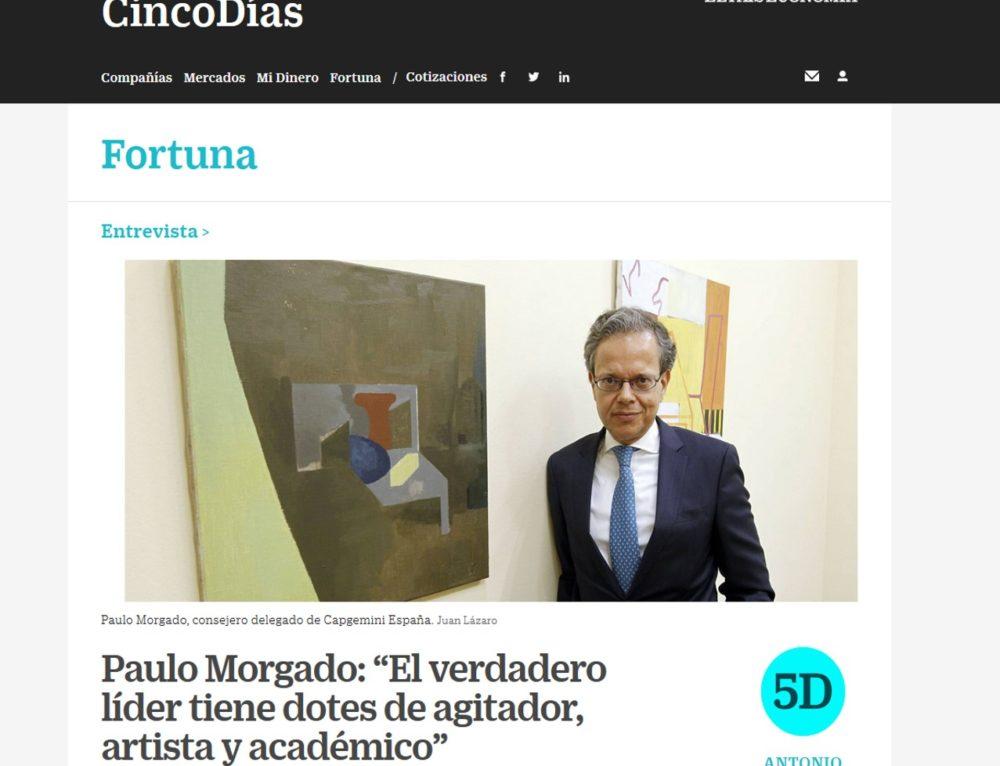 Paulo Morgado entrevistado en Cinco Días