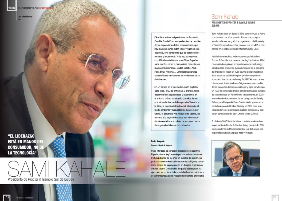 Sami Kahale, President of Procter & Gamble Southern Europe