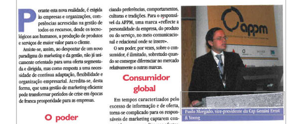 Meeting consumer's needs | Paulo Morgado in magazine DH