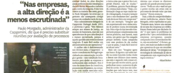 Top management | Paulo Morgado in Diário de Notícias