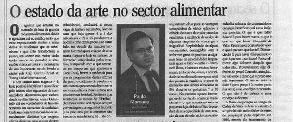 Food industry | Paulo Morgado in Jornal de Negócios
