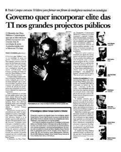 Government summons IT elite   Paulo Morgado in Jornal de Negócios