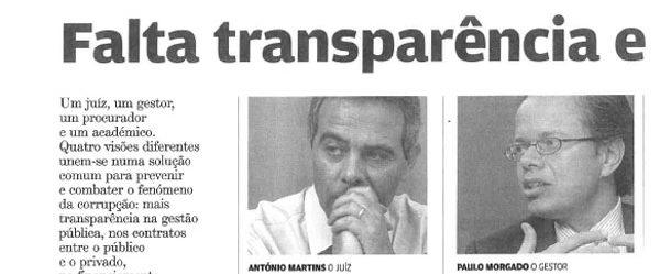 Transparency & political goodwill | Paulo Morgado in Jornal de Negócios