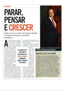 Company stabilization | Paulo Morgado in PRÉMIO