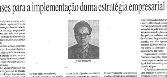 Company strategy (2) | Paulo Morgado in JL