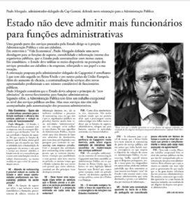 Public service | Paulo Morgado in Vida Económica