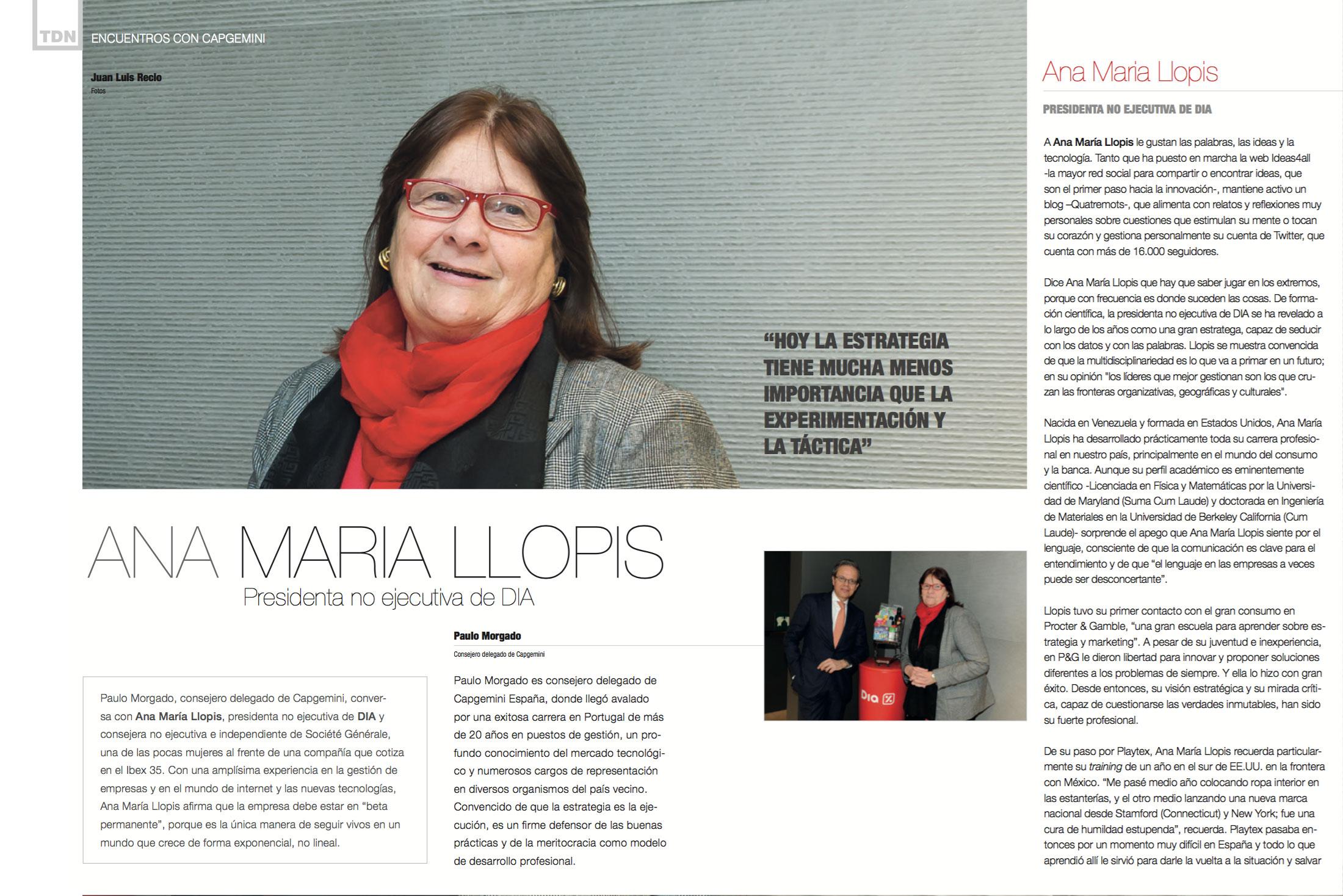 Ana María Llopis, Non Executive Chairwoman at DIA