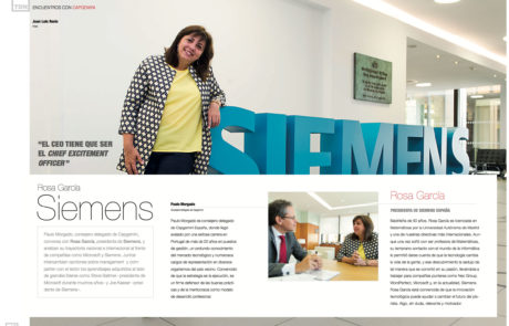 Rosa García, CEO & President at Siemens Spain
