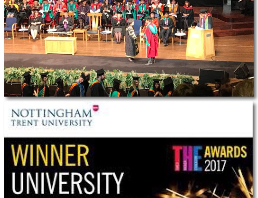Paulo Morgado, awarded a doctor's degree from Nottingham Trent University