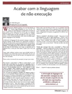 Eliminating procrastination language | Paulo Morgado in Insight Magazine