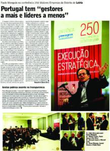 Managers & Leaders | Paulo Morgado in Jornal de Leiria