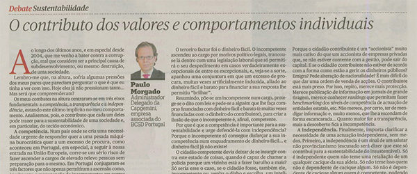 People's values & behaviours | Paulo Morgado in PÚBLICO