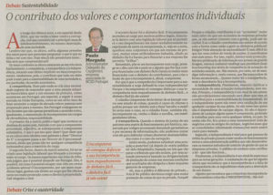 People's values & behaviours | Paulo Morgado in PÚBLICO