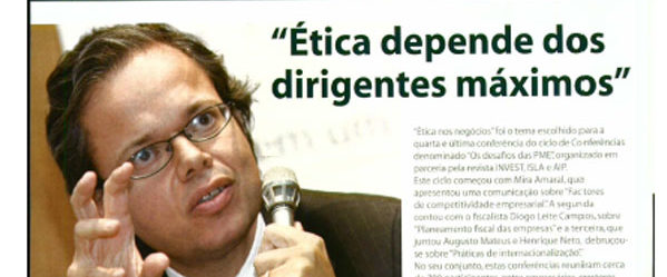 "Top management's ethics | Paulo Morgado in ""Os desafios das PME"""