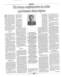 Company performance evaluation | Paulo Morgado in Jornal de Leiria